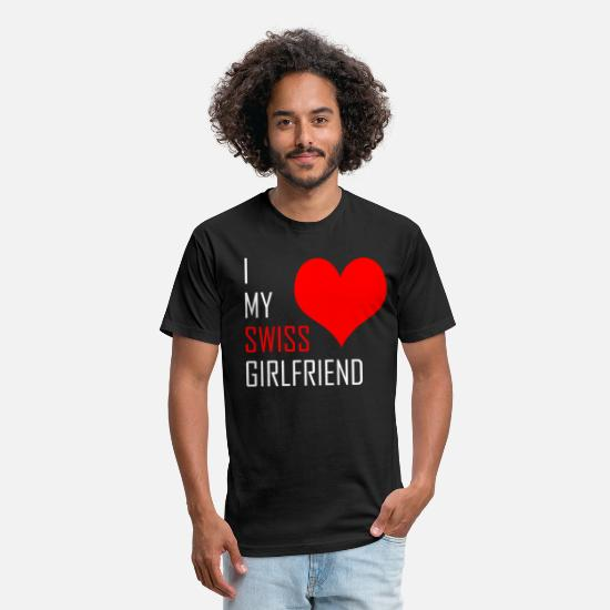 Swiss T-Shirts - Swiss Girlfriend - Unisex Poly Cotton T-Shirt black