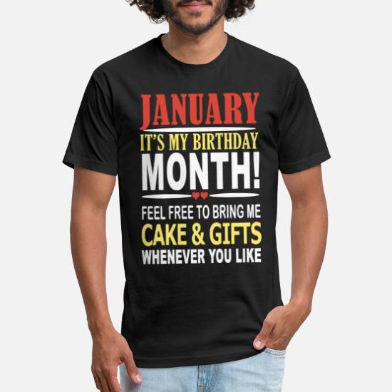 4819551b0 january its my birthday t shirts Unisex Poly Cotton T-Shirt ...