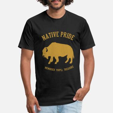 Ungulate Native American Indian Gaur Bison - Unisex Poly Cotton T-Shirt
