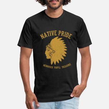 Ungulate Native American - Unisex Poly Cotton T-Shirt