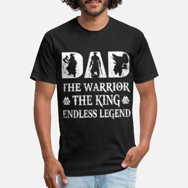 dad the warrior the king andless legend dad - Unisex Poly Cotton T-Shirt