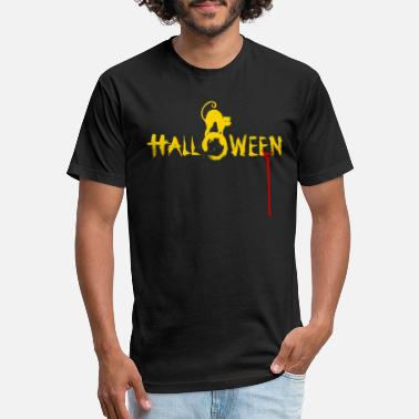 Happy Halloween Costume with Witch's Cat - Unisex Poly Cotton T-Shirt