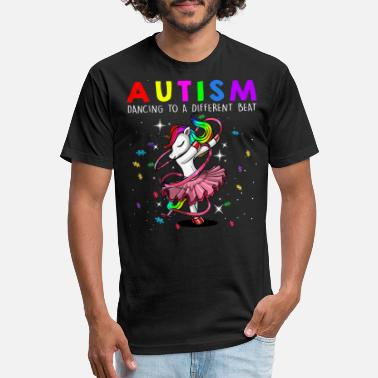 Unicorn Autism Mom Dancing To A Different Beat - Unisex Poly Cotton T-Shirt