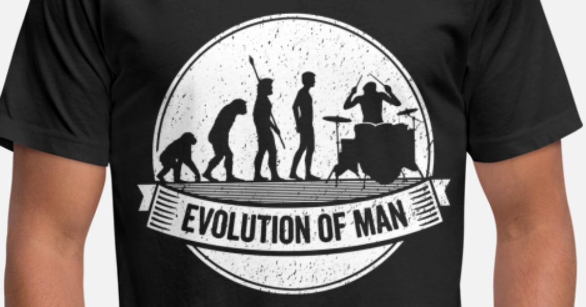 DRUMMER EVOLUTION Funny Rock Band T-shirt Music Humor Crew Sweatshirt