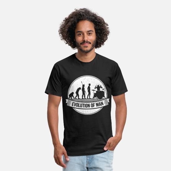 Evolution of A Drummer Mens Funny Drumming T Shirt