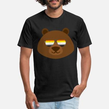 Gay Bear Gay Bear Sunglasses Gay Pride - Fitted Cotton/Poly T-Shirt by Next Level