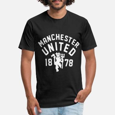 Manchester United Soccer Manchester United Football Club Official Soccer T - Unisex Poly Cotton T-Shirt