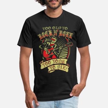 Rock & roll - too young to die awesome t-shirt - Unisex Poly Cotton T-Shirt