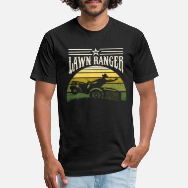 Lawn Mower Racing The Lawn Ranger Rides Again Funny Grass Mow Gift - Unisex Poly Cotton T-Shirt