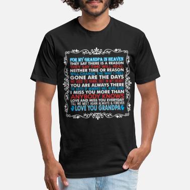 Mens Shirt Tee Shirt Grandpa in Heaven Shirt