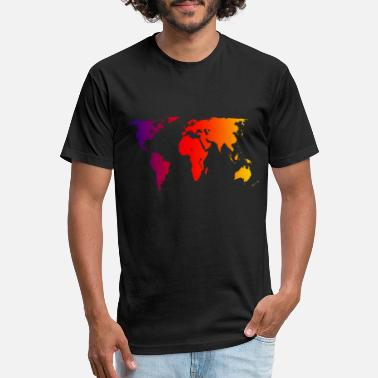 World Map world - Unisex Poly Cotton T-Shirt