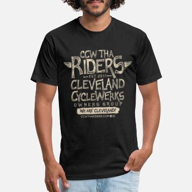 Tha Riders Stacked 2 Logo Design - Unisex Poly Cotton T-Shirt