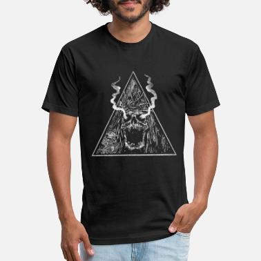 Gothic Skull tiangle - Gothic - Unisex Poly Cotton T-Shirt