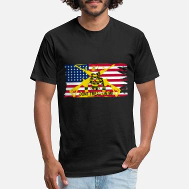 Gadsden Worn American Flag Don't Tread On Me Gadsden Flag - Unisex Poly Cotton T-Shirt