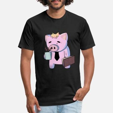 Manic Tired Pig Manic Monday - Unisex Poly Cotton T-Shirt