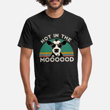 Not In The Mood I'm Not In The Mood Funny Cow T-Shirt for Women - Unisex Poly Cotton T-Shirt