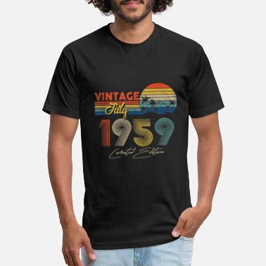 Old Fashioned Vintage July 1959 60th Birthday Gift 60 Years Old - Unisex Poly Cotton T-Shirt