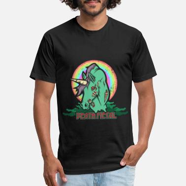 Emocore Death Metal Unicorn Metalhorn Metal Unicorn - Unisex Poly Cotton T-Shirt