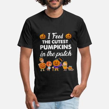 I feed the cutest pumpkins in the patch halloween - Unisex Poly Cotton T-Shirt