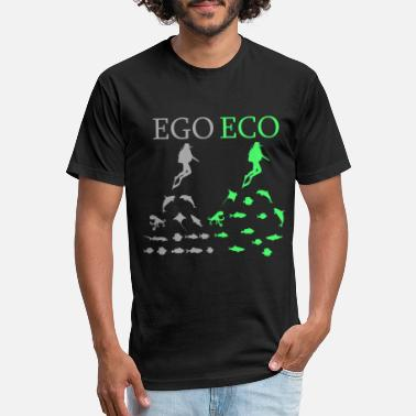 Ecosystem Diving Egoism Snorkeling nature - Unisex Poly Cotton T-Shirt