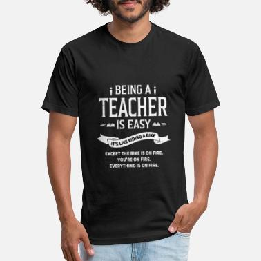 Being A Teacher Is Easy It's Like Riding A Bike - Unisex Poly Cotton T-Shirt