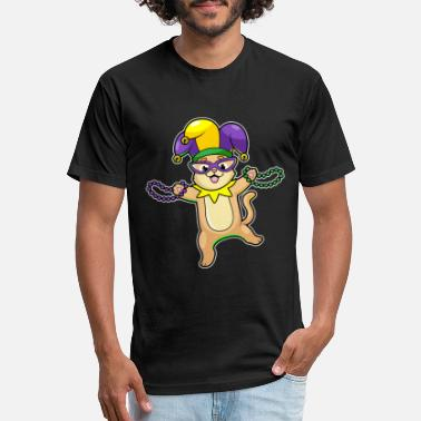 cat mardi gras - Unisex Poly Cotton T-Shirt