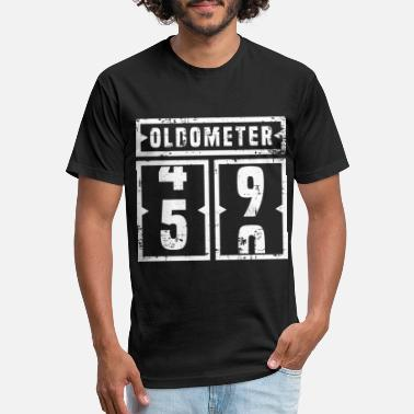 50 Years Old A Nice Birthday Tee Oldometer 59 For Anyone - Unisex Poly Cotton T-Shirt