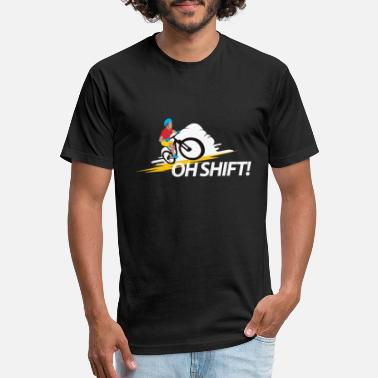 Adventure Bike Riders Funny Bike Rider Bicycle Cyclists - Oh Shift! Gift - Unisex Poly Cotton T-Shirt