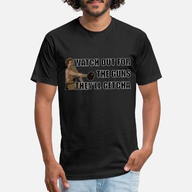 Anchorman Guns - Unisex Poly Cotton T-Shirt