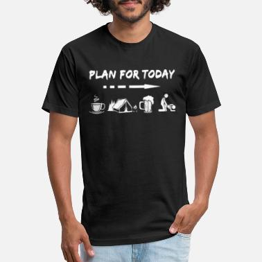Today Plan For Today Coffee Camping Beer - Unisex Poly Cotton T-Shirt