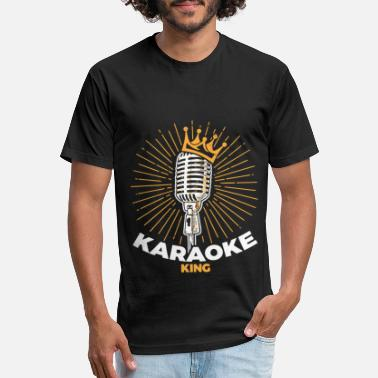 Singer Mom Karaoke King design : Gift for Singers and Music - Unisex Poly Cotton T-Shirt