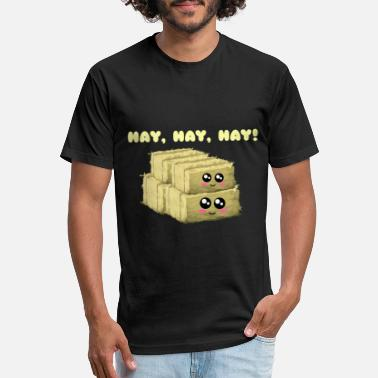 Hay Hay Hay Hay Cute Hay Pun - Unisex Poly Cotton T-Shirt