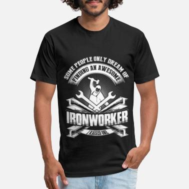 I Raised An Awesome Ironworker T Shirt - Unisex Poly Cotton T-Shirt