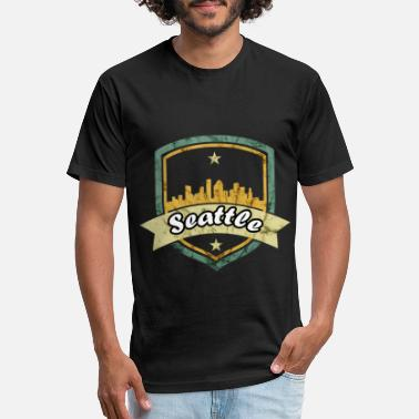 Seattle Seattle - Unisex Poly Cotton T-Shirt