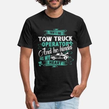 Tow Truck Tow Truck Operator Shirt - Unisex Poly Cotton T-Shirt
