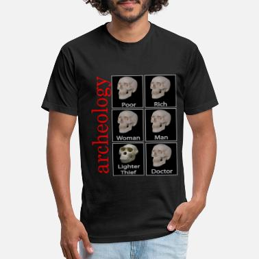 Archaeology archeology skull design - Unisex Poly Cotton T-Shirt