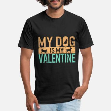 Single My Dog Is My Valentine Shirt Dogs Lover Anti - Unisex Poly Cotton T-Shirt