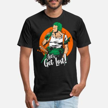 Manga Zoro Let's Get Lost - Unisex Poly Cotton T-Shirt