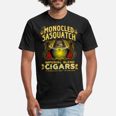 Monocled Sasquatch Cigars - Unisex Poly Cotton T-Shirt