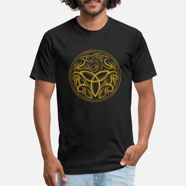 Druid Celtic Dragon Viking Runes Druid Symbol Gift - Unisex Poly Cotton T-Shirt