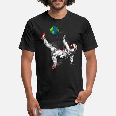 Soccer Space Astronaut Soccer - Unisex Poly Cotton T-Shirt