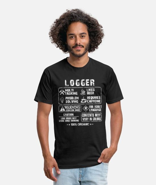Chain Saw T-Shirts - Logger - Multi tasking logger awesome t-shirt - Unisex Poly Cotton T-Shirt black