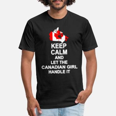 Let KEEP CALM AND LET CANADIAN GIRL HANDLE IT SHIRT - Unisex Poly Cotton T-Shirt