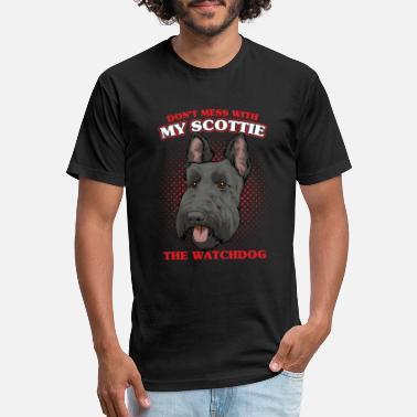 I Love Heart My Scottish Terrier V-Neck T-Shirt