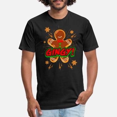 Cake Gingerbread man cookie pastry gift - Unisex Poly Cotton T-Shirt