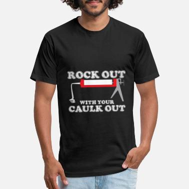 Construction Construction Worker Rock Out With Your Caulk Out - Unisex Poly Cotton T-Shirt