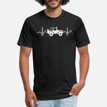 Heartbeat With Jeep Jeep Heartbeat - Unisex Poly Cotton T-Shirt