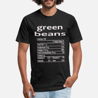green Beans Funny Thanksgiving Christmas T-Shirt - Unisex Poly Cotton T-Shirt