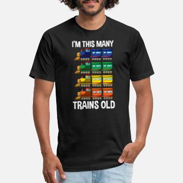Train I'm This Many Trains Old T Shirt 4 Yr Boy Kid Birt - Unisex Poly Cotton T-Shirt