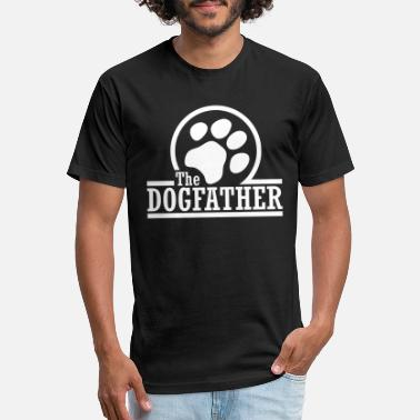 Funny Dog the dogfather - Unisex Poly Cotton T-Shirt